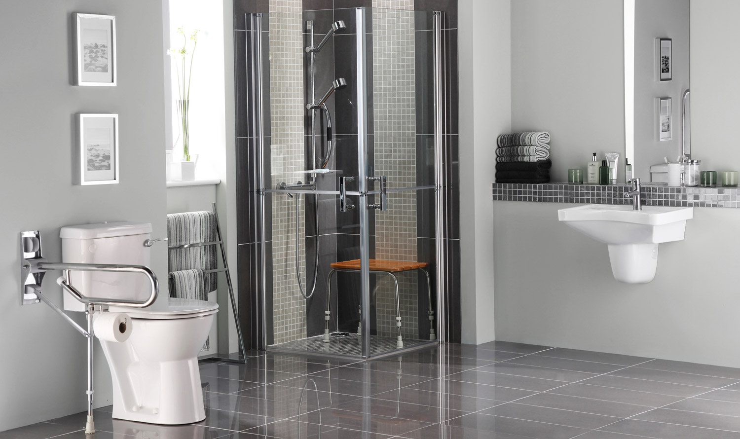 Bathroom Remodels For Aging Wheelchair Accessible In NorthCentral IL - Bathroom for wheelchair user